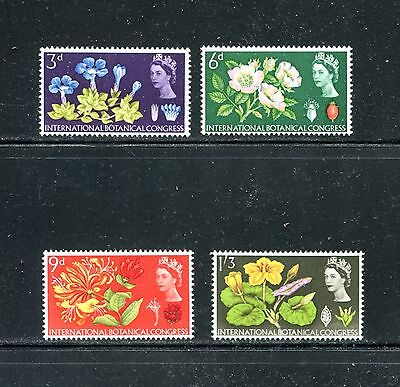 Great Britain 414-17, 1964 Flowers, Mnh  (Id6359)