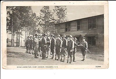 1918 Army Rifle Inspection, Camp Jackson in Columbia, SC South Carolina PC