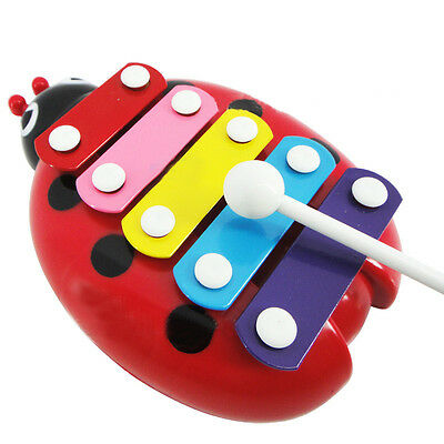 1*Fashion Mini 5-Note Xylophone Musical Instrument Toys Gift For Baby Kid Child