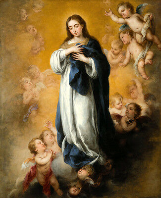 Virgin of the Immaculate Conception Oil Painting art printed on canvas L1445