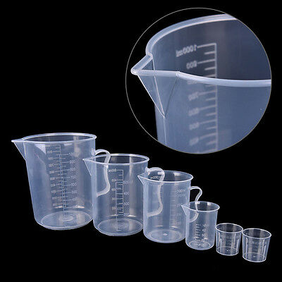 1Pc/2Pcs Plastic Measuring Jug Cup Graduated Surface Cooking Bakery Kitchen Lab