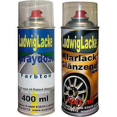 2 Spray in Set 1 Car Paint 1 Clear Varnish 400ml MITSUBISHI PERUGIA RED AC 11281