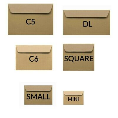 C5 C6 Dl Square Small Mini Craft Wedding Gift Tags Kraft Paper Envelopes