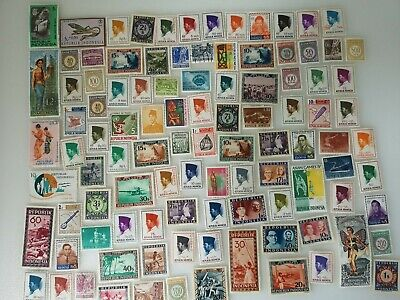300 Different Indonesia Stamp Collection