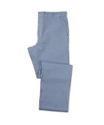 "Alexandra Chef Trousers Chefs Whites Gingham Blue Check 100% Cotton  44"" D3 (X31"