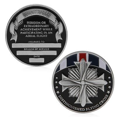 Distinguished Flying Cross Medal Commemorative Challenge Coin Collectible Token