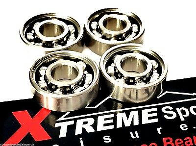 *4 Pack CLASSIC 627 HIGH PERFORMANCE BEARINGS OPEN STYLE SKATE PACK + STICKER