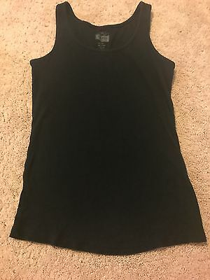 Old Navy Maternity women's size medium black ribbed tank in guc