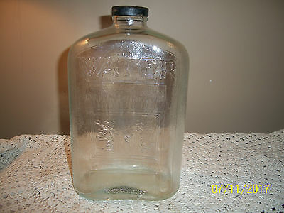 1931 Antique Glass Refrigerator 2 QT.  Water Bottle RARE