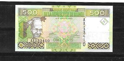 GUINEA #39a 2006 UNUSED 500 FRANCS BANKNOTE PAPER MONEY CURRENCY BILL NOTE