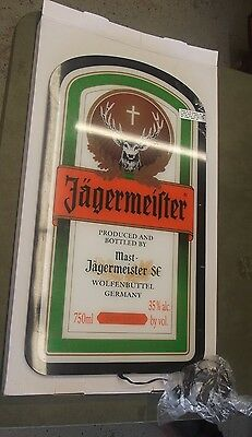 NEW IN BOX Jagermeister Wall Mount Bar Sign, Light Up Bottle Label Flat Screen