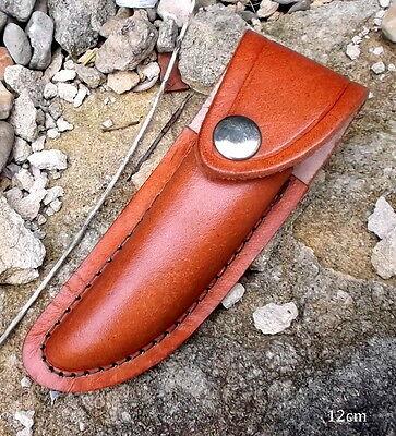 12cm leather knife case,leather sheath camping bush craft,edc knife pouch