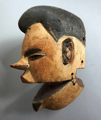 Old Ibibio mask with mobile jaw, Nigeria - Ibibio Maske mit Klappkiefer, Nigeria