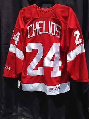 Vintage Detroit Red Wings CCM Chris Chelios Jersey MENS SIZE MED New with tag.