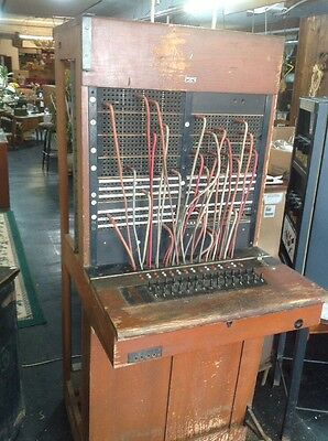 Large Vintage Western Electric Bell System Switchboard With Connections