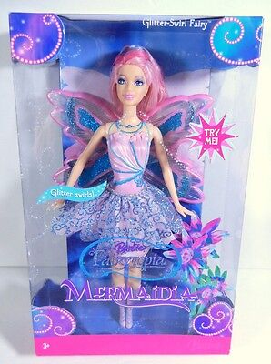 Nib Barbie Doll 2006 Fairytopia Mermaidia Glitter-Swirl Pink