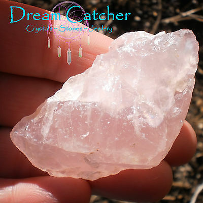 43gr Natural Pink Madagascar Rose Quartz Stone #38 Crystal Healing Wicca Witch