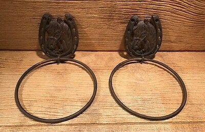 "Horse with Horse Shoe Towel Ring 10 1/2"" (Set of Two) Bath Decor 0170S-04205"