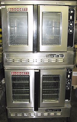 Blodgett Dual Flow Double Stack Convection Oven 2 Natural Gas Ovens Full Size