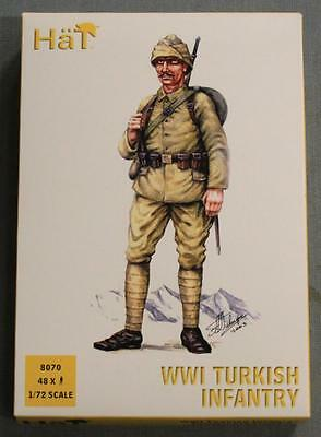 Hat 8070 WWI Turkish Infantry Model Figures NOS 1/72 Scale