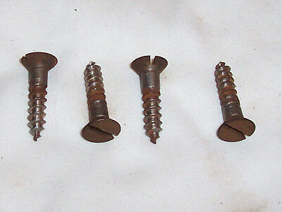"4 Genuine Antique Singer Treadle Sewing Machine 1-1/8"" Frame to Table Top Screws"