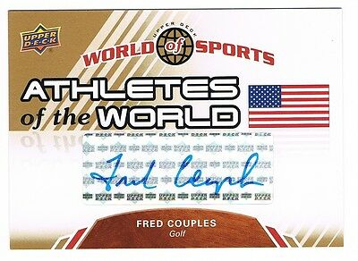 2010 Upper Deck World of Sports Athletes of the World Autograph Fred Couples !!