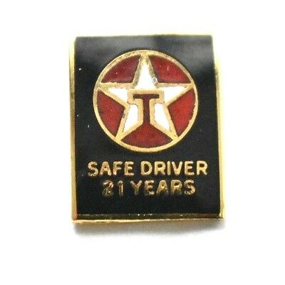 TEXACO Gas Oil EMPLOYEE Service Enameled 21 Year Safe Driver Award GOLD FILLED