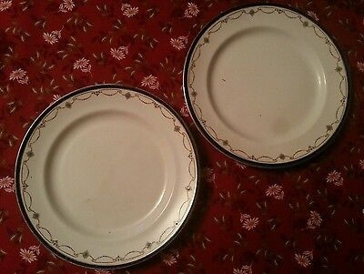 """2 x Booths Sheraton Border 7.5"""" desert plates Alfred B Pearce. More available"""