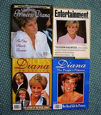 4 Princess Diana Limited Edition Commemorative 1997 Magazines ~ Brand New!!!!