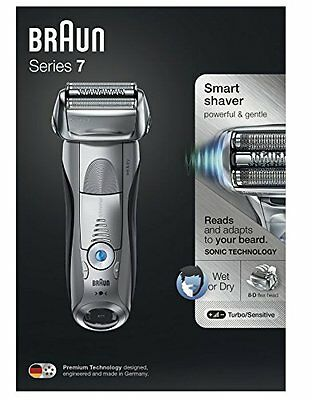 Braun 7893s Smart Wet And Dry Shaver Smart Sonic Technology Series 7 Brand New!