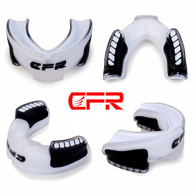 White Teeth Protector Mouth Guard Piece Gym Boxing Gum Sheild Free Size Adult LC