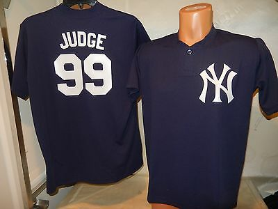 a4f84313c 7711 Boys YOUTH New York Yankees AARON JUDGE Baseball Jersey BLUE New