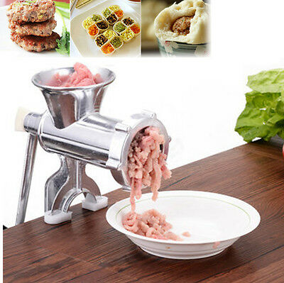 Stainless Steel Manual Meat Grinder Mincer Sauce Maker Sausage Kitchen Tools AU