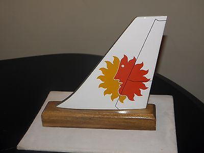 National Airline Wood Desk Model Airplane Tail Pilot Fathers Day Collectible New