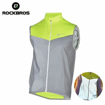 RockBros Cycling Sportswear Reflective Vest Windproof Coat Breathable Jersey