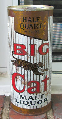 Big Cat from Pabst, Milwaukee. ring top 16 oz.