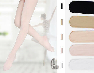 Footed Dance Tights Ballet Jazz Pantyhose waist and gusset Child to Adult da020