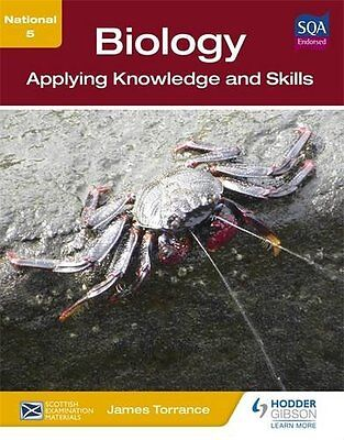 National 5 Biology: Applying Knowledge and Skills New Paperback Book James Torra