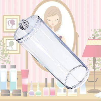 Clear Acrylic Cotton Swab Pads Storage Container Cosmetic Makeup Holder NEW BU