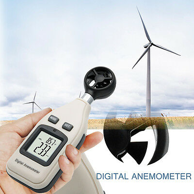 Ce Approved Digital Handheld Anemometer Wind Speed Meter Thermometer Sailing