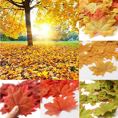 Pack of 1000X Artificial Maple Leaf Garland Silk Autumn Fall Leaves Garden Decor