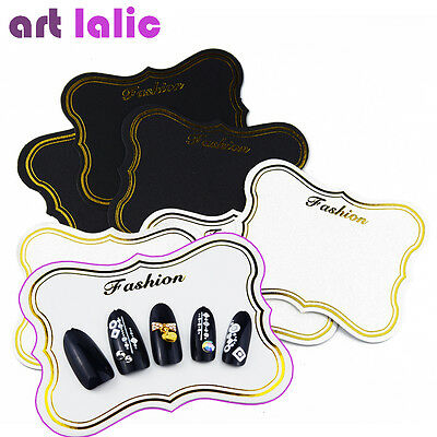 10pcs Nail Art Display Card Bronzing Photo Frame Retro Decorative Card Nail Tool