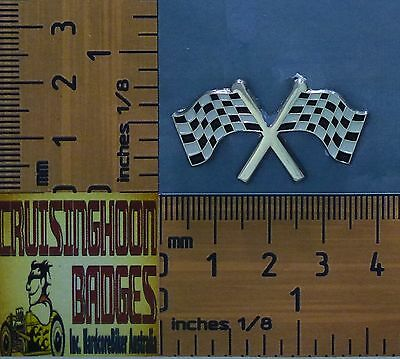 Speedway , Supercars Checkered Flag  Badge / Lapel Pin