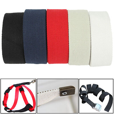 38mm 3m Cotton Fabric Webbing Tape Making Strapping Belt Bag Strap Carfts DIY