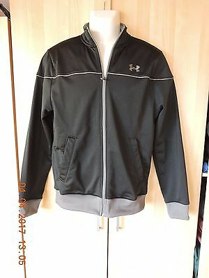 Under Armour unisex's 100% polyester black&gray warm-up/jacket Size M