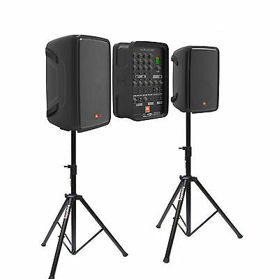 "JBL Eon208P 8"" 300W PA System with mixer and bluetooth + stands"
