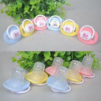 Baby Kid Silicone Print Orthodontic Pacifier Dummy Translucent Soother Nipple UK