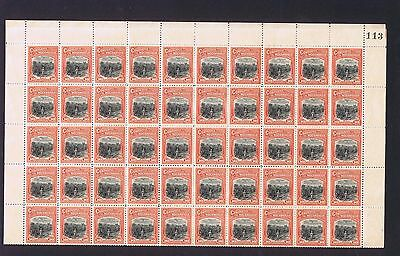 Portugal Mozambique Co 1918-24 10c Sisal plant and railway full sheet of 100 MNH