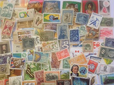 300 Different Latin America Stamp Collection - Pictorials and Commemoratives