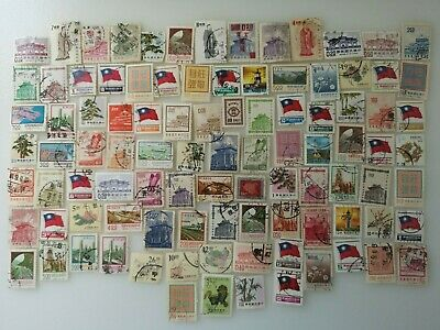 500 Different Taiwan/Formosa Stamp Collection